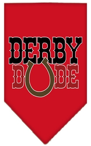 Derby Dude Screen Print Bandana Red Large